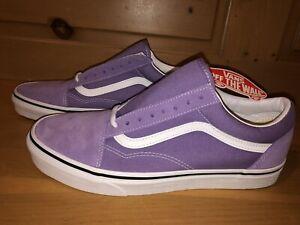 Vans Men's Old Skool VN0A38G19GD Chalk Violet Purple White Skate Shoes Size 10.5