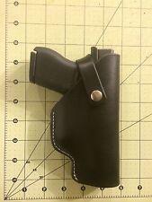 HandMade Black Leather Holster For Glock 43 9mm OWB right hand Belt Slip