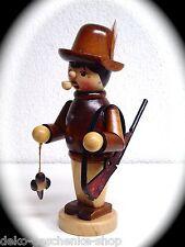 Räuchermann Räucherfigur Räuchermännchen 16 cm Jäger mit Gewehr Natur 40326