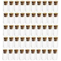 50x Cute Mini Glass Bottles with Cork Stopper Wishing Bottle Vials Jars 12*16mm