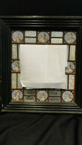 Schöner antiker Spiegel mit Glasmalerei Renaissance / Barock