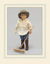 "R. John Wright Doll Tasha Tudor ""Tom"" Collectible USA Made"