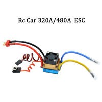 For 1/10 RC Car 320A/480A Brushed ESC w/ Cooling Fan Speed Controller Waterproof