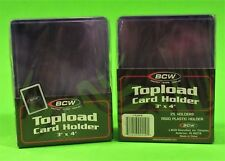 50 TOPLOAD CARD HOLDER FOR SPORTS/ TRADING CARDS, 12M 3 X 4 RIGID PLASTIC, BCW