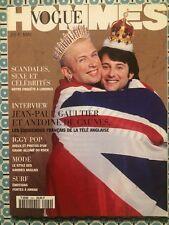 VOGUE HOMMES 169 Mai 1994 Jean Paul Gaultier Iggy Pop Mode