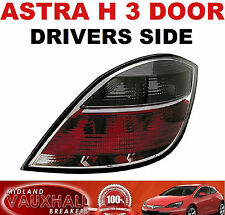 VAUXHALL ASTRA H SMOKED BACK REAR LIGHT LAMP LENS DRIVERS OFF SIDE SXI SRI VXR