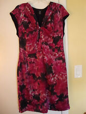 New Womens Kenneth Cole Knot Me Dark Fuschia Dress Size 14