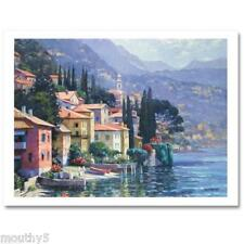 """BEHRENS """"IMPRESSIONS OF LAKE COMO"""" NEW GICLEE ON CANVAS"""