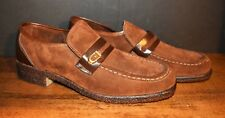 VTG Men's Suede HUSH PUPPIES Slip On Penny Loafers   Size 9 M  #923   MINT
