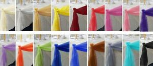 Elegant Wedding Table Valance Chair Decor Sheer SCAR Fabric Party Decoration 216