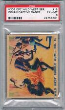 1930 OPC Wild West Serie V306 Trading Card #15 Indian Captive Dance Graded PSA 6