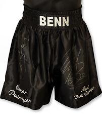 *New Rare*  Nigel Benn And Conor Benn Dual Signed Custom Made Boxing Trunks