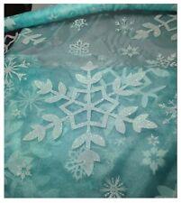 Congelati Elsa 2 CAPE Fabric material-snowflake GLITTER TULLE Organza 150cm di larghezza