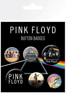 Button Badge 6er Pack PINK FLOYD - Mix - Dark Side  2x32mm & 4x25mm BP0738