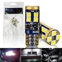 2X T10 W5W LED 12SMD 3030 Chip 194 168 Canbus Error Free Light Car Interior Bulb