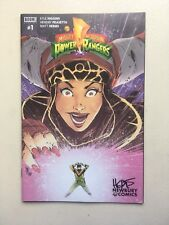 MIGHTY MORPHIN POWER RANGERS #1 HENDERSON NEWBURY VARIANT BOOM *Signed By HERMS*