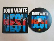 *JOHN WAITE BEST 2014 14 TRK CD 3 LIVE AUTOGRAPHED DIGIPAK BABYS BAD ENGLISH OOP