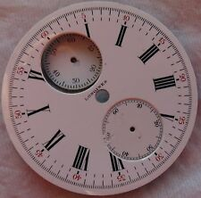 Longines Chronograph enamel Dial 43 mm. in diameter for vintage pocket watch
