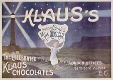 VINTAGE POSTER VINTAGE POSTER KLAUS'S -  KLAUS SWISS CHOCOLATE ci 1896