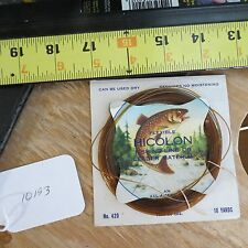 New listing Vintage Flexible Hicolon fishing line leader for fishing lure or hook (lot#10193