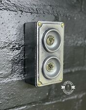More details for 2 gang solid cast metal light switch industrial 2 way bs en approved