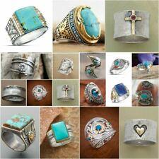 Wholesale Handmade 925 Silver Turquoise Gemstone Ring Women Men Vintage Jewelry