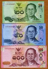 SET, Thailand 20-50-100 Baht ( 2017) P-New UNC > Commemorative