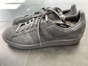 Adidas Campus 80's Monotone Originals Suede Sneakers Ash Gray M20930 Sz 9