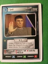 STAR TREK CCG 2 PLAYER INTRO GAME, (WB) SPOCK MINT, NM UNPLAYED