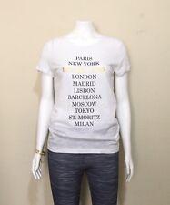 MICHAEL KORS WOMEN'S City Graphic Signature T-Shirt - White / Medium