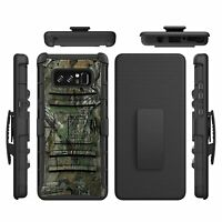 For Samsung Galaxy Note 8 Armor Hybrid Hard Cover Belt Clip Holster Stand Case