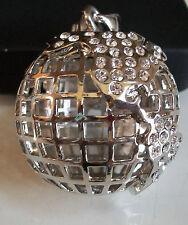 Designer Style Silver Finish Hip Hop Bling 3D Style  Globe Fashion  Pendant