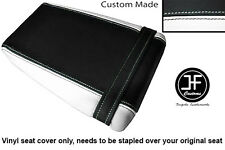 BLACK & WHITE VINYL CUSTOM FITS KAWASAKI ZXR ZX R 400 88-90 REAR SEAT COVER ONLY