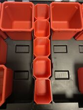 5x MILWAUKEE PACKOUT DEEP PROFILE MIDDLE CUPS CENTRE BINS ORGANIZER STORAGE