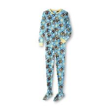 SPONGEBOB Squarepants Womens size Large Pajamas Footed One Piece Union Suit Feet