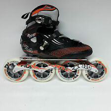 Fila M 110 black/orange Speedskate Marathon Inline Skates 110 mm Rollen Gr. 40,5