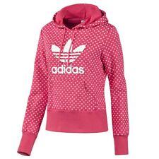 adidas Originals Damen Adi Trefoil Lips Hoodie Kapuzenpullover Pink Lippert AOP