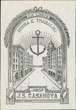 Portugal. 'J S Casanova'  Bookplate (JC.162)