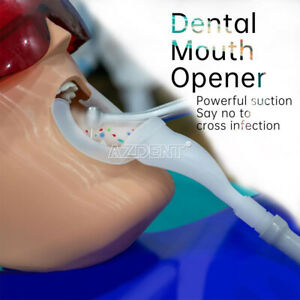 Dental Cheek Lip Retractor Oral Suction Disposable Mouth Opener White