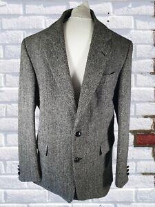 """Vintage Kilmaine Harris Tweed 100% Wool Jacket 44"""" Long"""