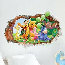 Kibi Disney 3D - Adesivo da Parete Winnie the Pooh e Amici Adesivi Murali