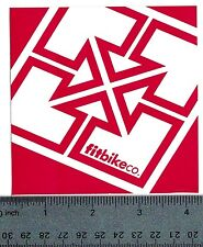 """FIT BIKE CO STICKER Fit Bicycle Company 4"""" Red Square Decal"""