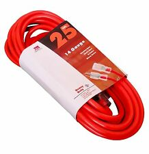 25-Foot 14 Gauge Extension Cord UL Lit End 3 Wire 14/3 Ft Feet
