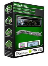 Skoda Fabia car stereo, Pioneer headunit plays iPod iPhone Android USB AUX in