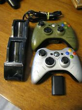 LIMITED EDITION XBOX 360 Controller lot- EUC HALO 3 ODST and REACH + charger