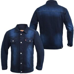 LEVIS Mens Denim Faded Jean Cotton Classic Button Up Trucker Jacket