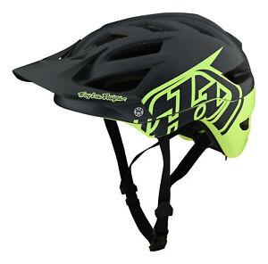 Troy Lee Designs A1 Classic MTB/Bicycle w/MIPS Helmet - Gray / Green