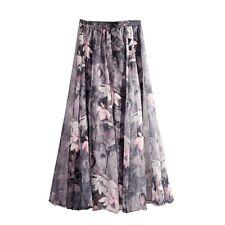 f92e6a0ded Women Bohemia Chiffon Long Maxi Beach Skirt Summer Elegant Pleated Skirts  Dress