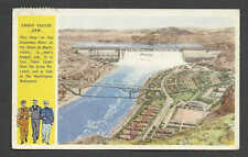 DATED 1944 PPC* GRAND COULEE DAM IN WASHINGTON SERVICE MANS THEME WW2 AT LEFT