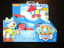 PAW PATROL APOLLO PUP MOBILE RACE CAR CRUISER VEHICLE AND FIGURE SET